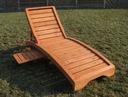 Drewniany leżak ogrodowy, solidny