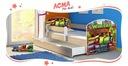 Łóżko dziecięce 140x70 szuflada materac Dąb Sonoma Bohater inny