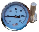"GOSHE Termometr bimetaliczny 0-120 C 1/2"""