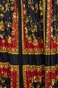 ZARA ASYMETRYCZNA PLISOWANA SPÓDNICA XS Kolor wielokolorowy żółty, złoty brązowy, beżowy czarny czerwony pomarańczowy miedziany