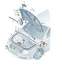 UCHWYT RĄCZKA OTWIERANIA MASKI A4 B6 B7 AUDI ORYG. Jakość części (zgodnie z GVO) O - oryginał z logo producenta samochodu (OE)