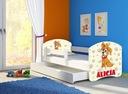 Łóżko dziecięce 180x80 szuflada materac BIAŁE ACMA Długość 184 cm