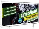 GOTOWE Wzory Reklam AUTO SERWIS 2,5mX1m