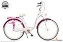 Rower miejski 28 LANDE Savana Nexus Alu biało-róż Rozmiar ramy 17 cali