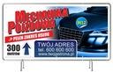 Solidny Baner reklamowy 3x1m AutoDetailing Reklama Waga (z opakowaniem) 1 kg