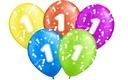 Balony na Roczek 1 PIERWSZE Urodziny Balon 5 szt.