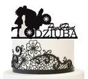 Figurka na tort Para Młoda motocykl topper 25cm