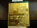 Banknot Pozłacany 24 karat 100.Euro