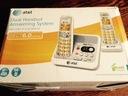 Telefon bezprzewodowy 2 słuchawki sekretarka ATT