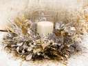 ISKRZĄCY WIANEK lampion świeczka stroik dekoracja