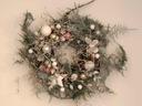 PASTELOWY PUCH stroik świąteczny wianek na święta