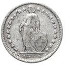 Szwajcaraia - moneta - 1/2 Franka 1921 SREBRO - 2