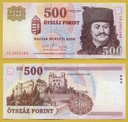 -- WĘGRY 500 FORINT 2010 ED P188g UNC/UNC-