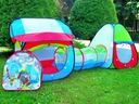 Ogrodowy Namiot z Tunelem kolorowy domek DZIECI