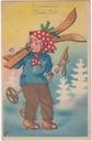 Nowy Rok narty dziewczynka dzieci (1950)