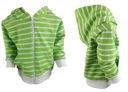 BY MIMI rozpinana bluza dresowa zielona paski 92