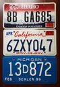 Idaho, California, Michigan  - tablice USA