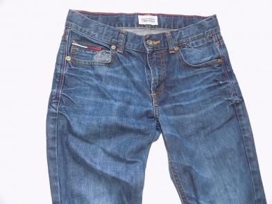 9b3f1a022 TH , spodnie damskie . Stan b dobry / widoczny na foto. Rozmiar z metki 12y  152 cm. Przed zakupem proszę o zapoznanie się z wymiarami dokonanymi na  płasko ...
