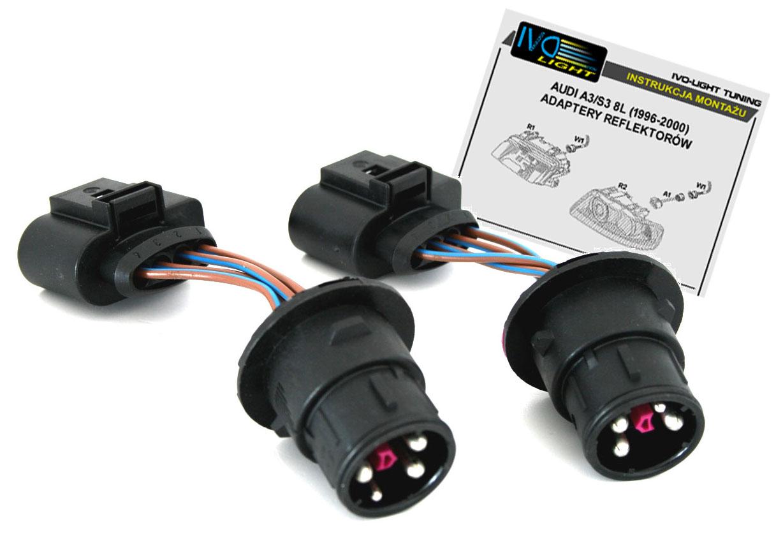 Audi A3 S3 8l 96 00 Adapter Lamp Na Lift 00 03