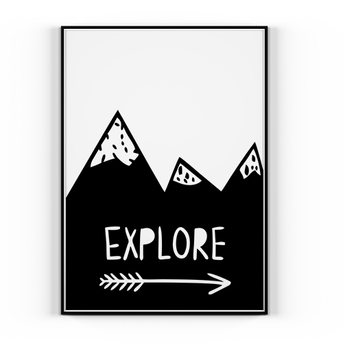 Plakat Explore 50x70cm Styl Skandynawski