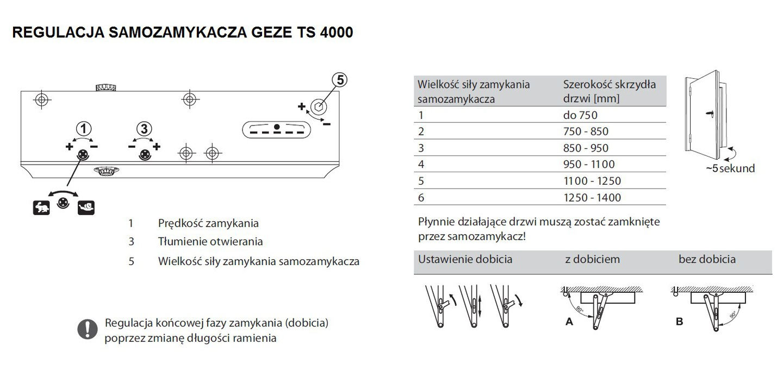 samozamykacz geze ts 4000 rami br z 4979609834 wi cej ni aukcje. Black Bedroom Furniture Sets. Home Design Ideas