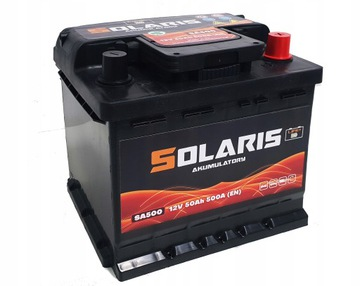 аккумулятор solaris 50ah 500a cb500 - фото