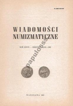 Wiadomości Numizmatyczne - 1983 rok - nr 3-4 доставка товаров из Польши и Allegro на русском