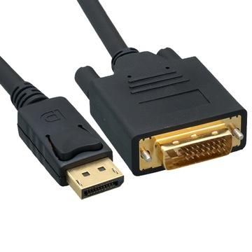 Кабель Display Port-DVI 2 М DisplayPort DP Пау доставка товаров из Польши и Allegro на русском