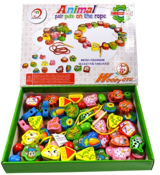БУСИНЫ ДЕРЕВЯННЫЕ игрушки ручной нить доставка товаров из Польши и Allegro на русском