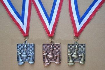 Медаль шахматный квадратный ЗОЛОТОЙ - тяжелый! доставка товаров из Польши и Allegro на русском