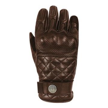(Перчатки мотоциклетные кожаные коричневые CAFE RACER S) доставка товаров из Польши и Allegro на русском