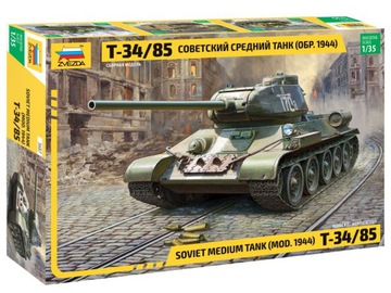Т-34-85 Советский Средний Танк (МОД.1944) ЗВЕЗДА 3687 доставка товаров из Польши и Allegro на русском
