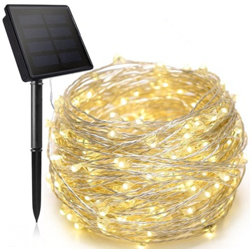 ЛАМПОЧКИ СВЕТОДИОДНЫЕ на солнечных батареях ЕЛОЧНЫЕ ВНЕШНИЕ 200LED 20м доставка товаров из Польши и Allegro на русском