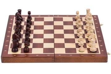 SQUARE - Шахматы деревянные ТУРНИРНЫЕ № 4 - КРАСНОЕ дерево доставка товаров из Польши и Allegro на русском