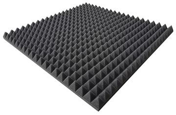 Akustické panely Mats Pyramída Foam 50x50x3cm