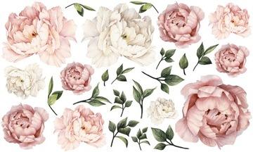 PEONIES kvety PEONIES nálepky NA STENE 100x60 XL