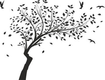 Nálepky na stene stromu č. 232-190cm