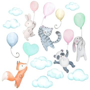детские наклейки на стену воздушные шары с шариками