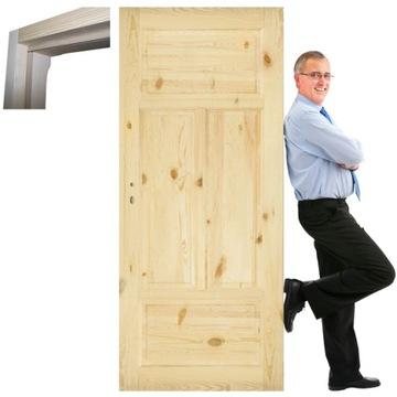 Дверь из массива сосны Stolgen SK4 80 L P рама