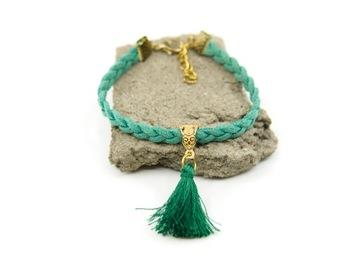 Ремешок для браслета, плетеная кисточка BOHO ETHNO FOLK