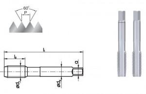 Метчик ручной M6, набор из 2 штук, HSS FANAR POLSKIE