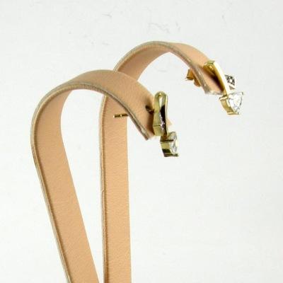 Kolczyki wiszące Złote 585 eleganckie cyrkonie