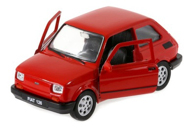 Welly Модель металлический Малыш Fiat 126 126p вот.двери