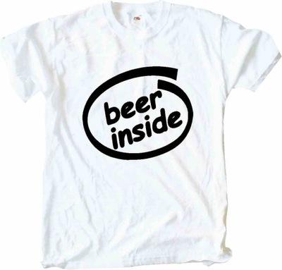 Beer Inside, intel, Koszulka T-shirt