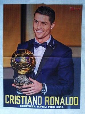 Plakat - CRISTIANO RONALDO - zdobywca złotej piłki