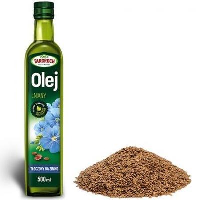 Targroch Olej lniany tłoczony na zimno 500 ml