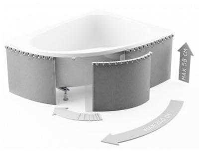 Telo penový kúpeľ rohu SCHEDPOL