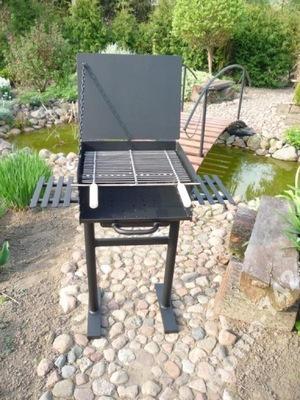 Grill ogrodowy na dwie tacki z popielnikiem 4mm!!