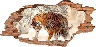 NÁLEPKY NA STENU Diera v stene TIGERS