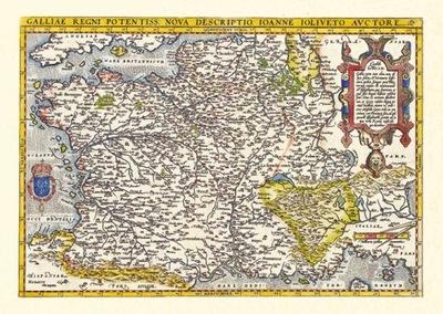Старая карта Франции